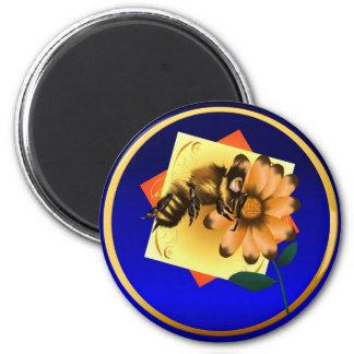 Imán feliz de las expresiones de la abeja
