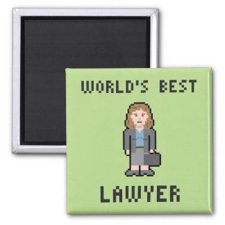 Imán femenino del abogado del mundo del pixel el