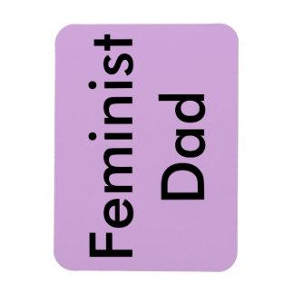 Imán feminista del coche del papá