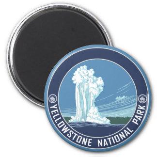 Imán Fiel viejo - parque nacional de Yellowstone