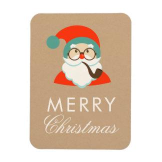 Imán Fiesta de Navidad de Santa del inconformista del