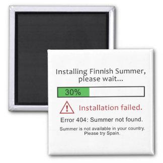 Imán finlandés divertido del verano