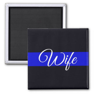 Imán fino de la esposa de Blue Line