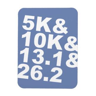 Imán Flexible 5K&10K&13.1&26.2 (blanco)