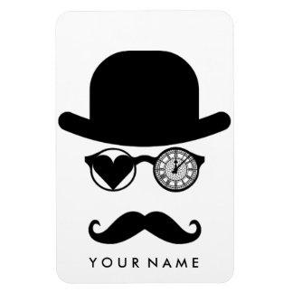 Imán Flexible Amo el reloj de Big Ben del bigote de Londres