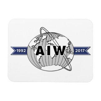 Imán Flexible Aniversario de AIW 25to, fondo blanco