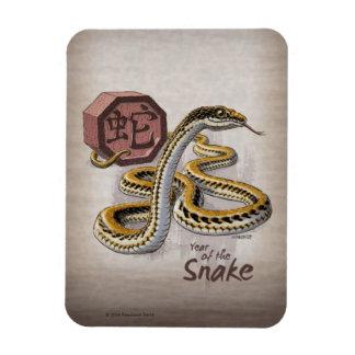 Imán Flexible Año chino del zodiaco del arte de la serpiente