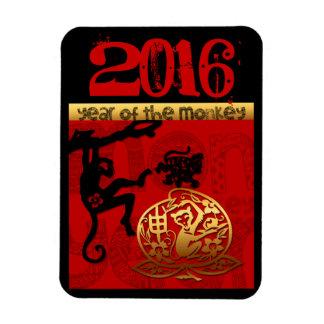 Imán Flexible Año de encargo chino M del Año Nuevo del mono de
