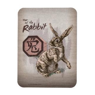 Imán Flexible Año del arte chino del zodiaco del conejo
