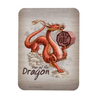 Imán Flexible Año del arte chino del zodiaco del dragón