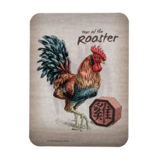 Imán Flexible Año del arte chino del zodiaco del gallo