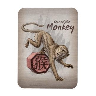 Imán Flexible Año del arte chino del zodiaco del mono