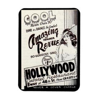 Imán Flexible anuncio del restaurante del cabaret de Hollywood