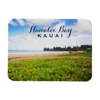 Imán Flexible Bahía de Hanalei, flores de la playa de Kauai