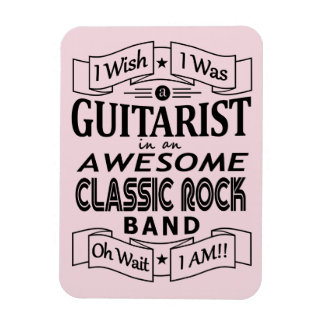 Imán Flexible Banda de rock clásica impresionante del