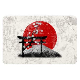 Imán Flexible Bandera y símbolos de Japón ID153