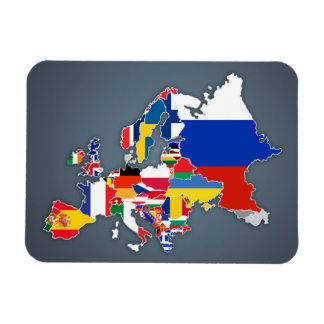 Imán Flexible Banderas de país europeas del mapa el |
