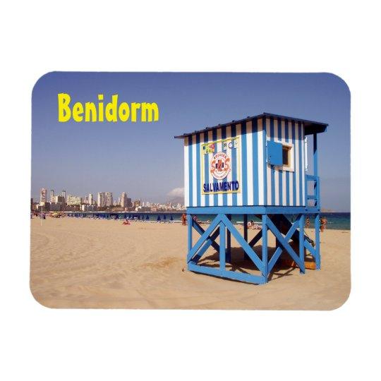 Imán Flexible Benidorm, caseta de salvamento en la playa