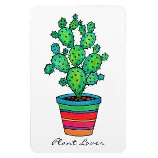 Imán Flexible Cactus magnífico de la acuarela en pote hermoso