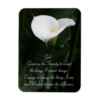 Imán Flexible Cala del rezo de la serenidad floral