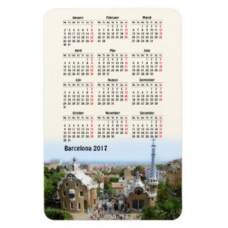 Imán Flexible Calendario de Barcelona, España 2017