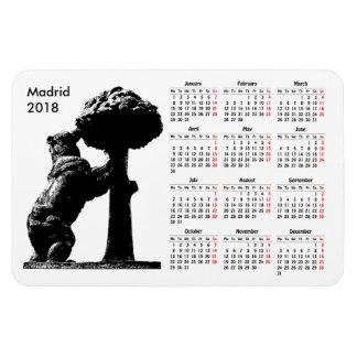 Imán Flexible Calendario de Madrid, España 2018