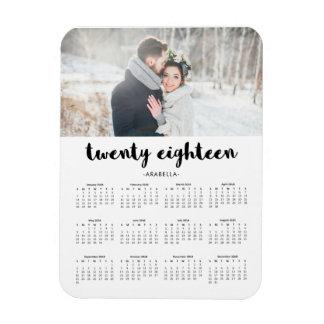 Imán Flexible Calendario de moda simple 2018 de la foto de la