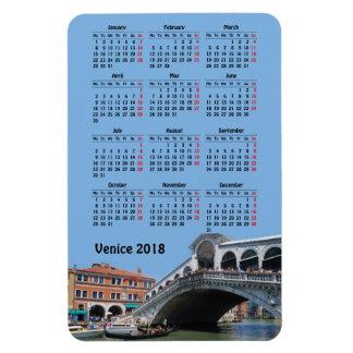 Imán Flexible Calendario de Venecia, Italia 2018