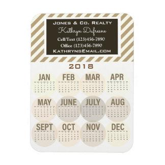 Imán Flexible Calendario profesional del negocio 2018
