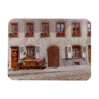 Imán Flexible Casa en el pueblo del gruyere, Suiza