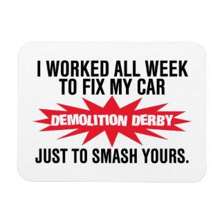 Imán Flexible Choque de Derby de la demolición su coche