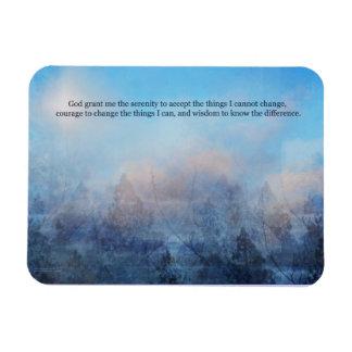 Imán Flexible Cielo del rezo de la serenidad y extracto de los