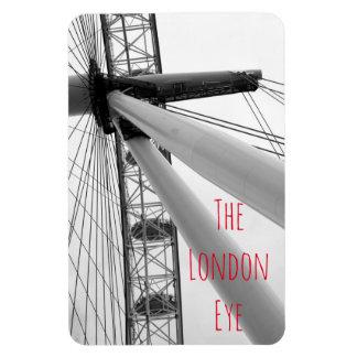 Imán Flexible Cierre para arriba del ojo de Londres en blanco y