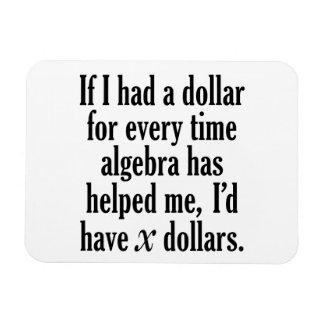 Imán Flexible Cita divertida de la matemáticas/de la álgebra -