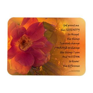Imán Flexible Color de rosa rosado anaranjado del rezo de la