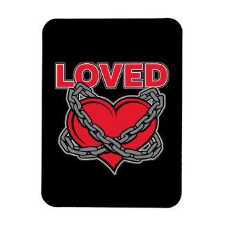 Imán Flexible Corazón amado encadenado día de San Valentín
