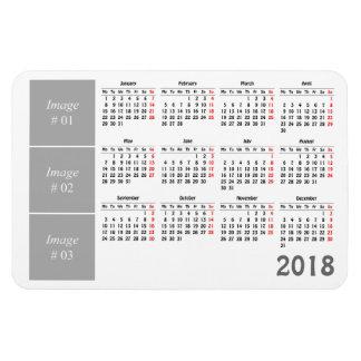 Imán Flexible Cree su propio calendario 2018