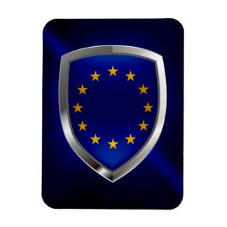 Imán Flexible Emblema de Mettalic de la unión europea