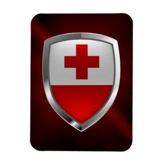 Imán Flexible Emblema metálico de Tonga