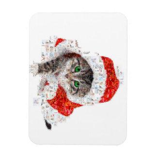 Imán Flexible gato de Papá Noel - collage del gato - gatito -