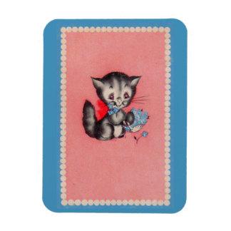 Imán Flexible gato dulce del gatito