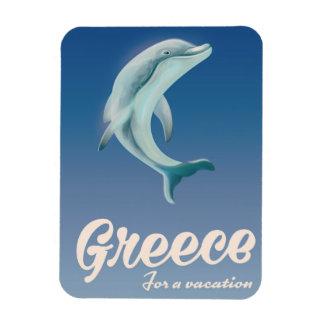 Imán Flexible Grecia para un poster del viaje del delfín de las