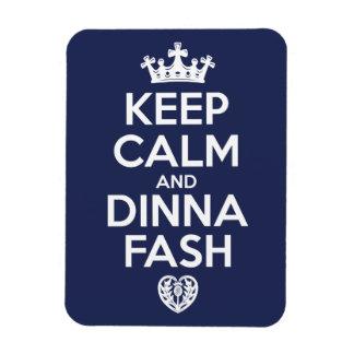 Imán Flexible Guarde la calma y la molestia de Dinna