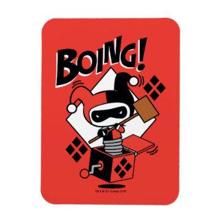 Imán Flexible Harley-Quinn-En-UNO-Box de Chibi con el martillo