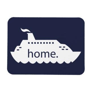 Imán Flexible Hogar del barco de cruceros - azul marino