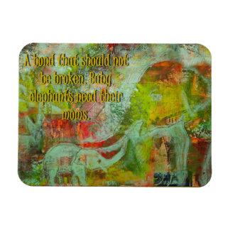 Imán Flexible ¡Imán de la imagen del elefante con un mensaje!