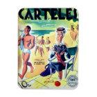 Imán Flexible Iman de Nevera Cuba Vintage Revista