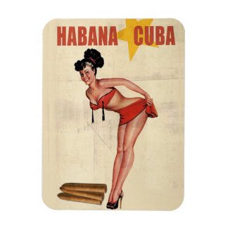 Imán Flexible Iman frigorifico Chica Cuba Vintage RetroCharms