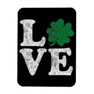 Imán Flexible Irlandés del trébol del AMOR del día de St Patrick