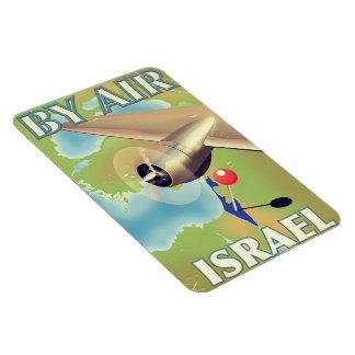 Imán Flexible Israel por el poster del viaje del vintage del